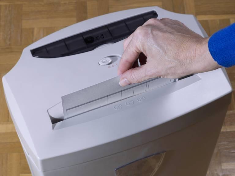 Trituradora de papel.
