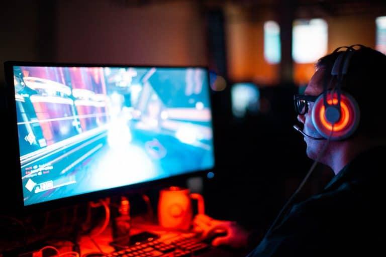 Imagem de transmissão de jogo de vídeo game.