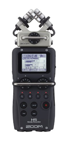 Gravador Digital Zoom H5 Handy Recorder com Sistema de Microfone intercambiáveis