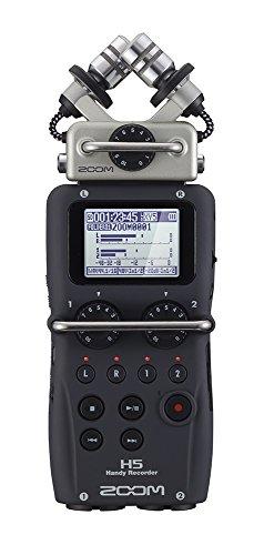 Gravador digital de áudio Zoom H5 com cápsula de microfone intercambiável
