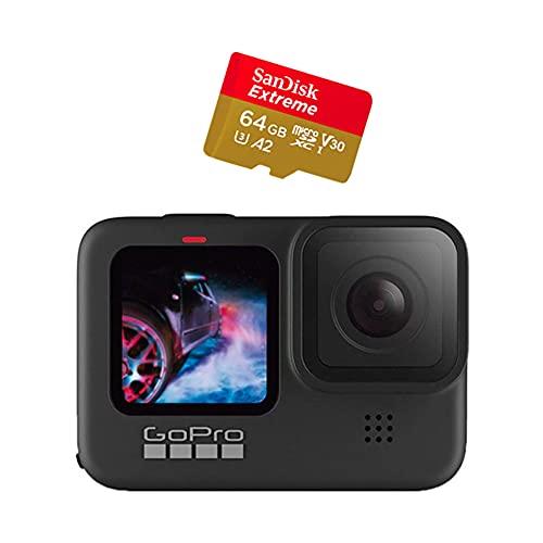 Câmera GoPro HERO9 Black - Standard Bundle com Cartão de Memória 64GB Sandisk Extreme