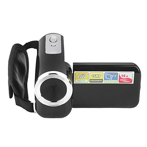 Filmadora digital robusta, câmera de vídeo digital portátil com fotografia HD 16x, tela TFT-LCD para passeios de bicicleta(black)