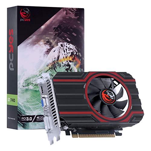 PLACA DE VIDEO NVIDIA GEFORCE GT 740 GDD5 4GB 128BIT SINGLE FAN - FULL SIZE - PA740GT12804D5FZ - PCYES